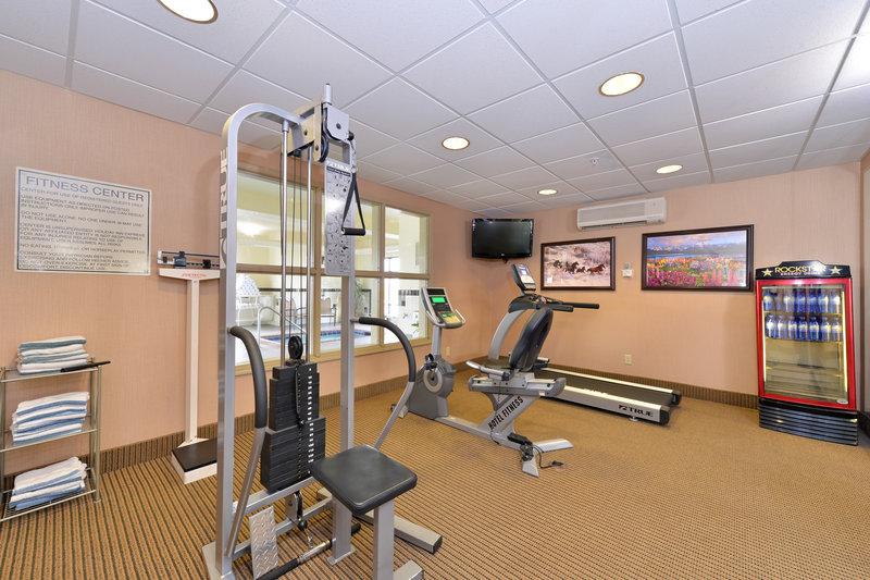 Holiday Inn Express Rawlins-Fitness Center at the Holiday Inn Express, Rawlins, WY<br/>Image from Leonardo