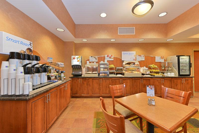Holiday Inn Express Rawlins-Breakfast Bar at the Holiday Inn Express, Rawlins, WY<br/>Image from Leonardo