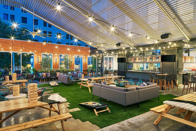 Element Austin Downtown-Upstairs at Caroline - Backyard<br/>Image from Leonardo
