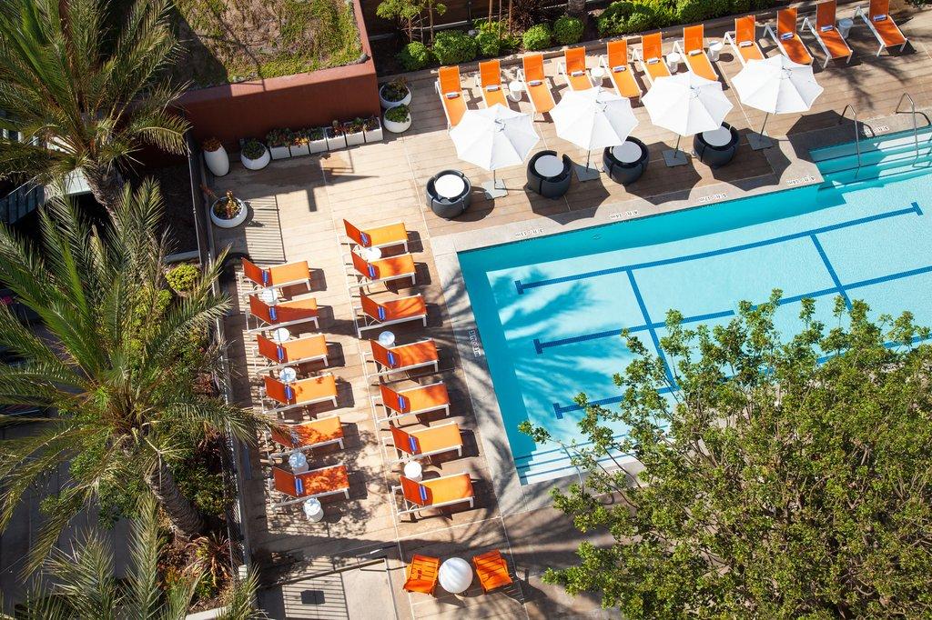 Aloft El Segundo - LAX Airport-Guest Room - Pool View<br/>Image from Leonardo