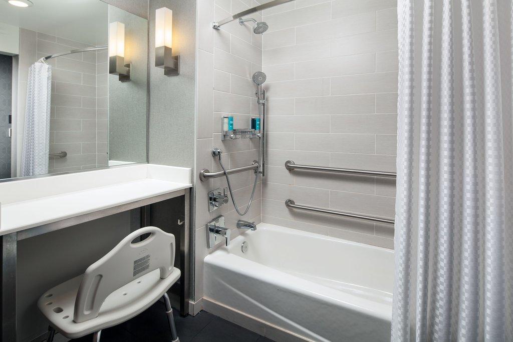 Aloft El Segundo - LAX Airport-Accessible Guest Bathroom - Tub<br/>Image from Leonardo