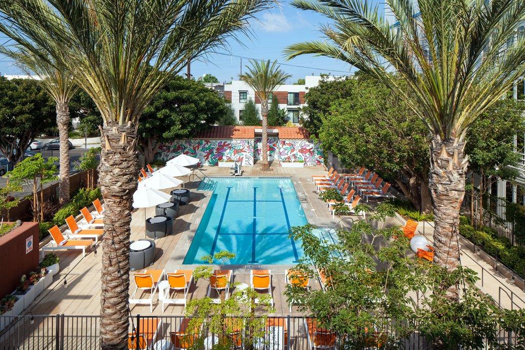 Aloft El Segundo - LAX Airport-splash outdoor pool<br/>Image from Leonardo
