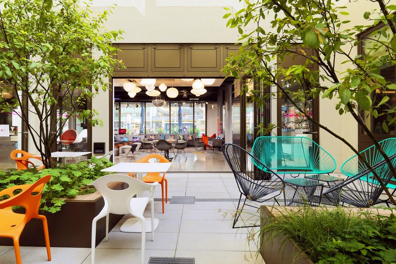 Aloft Munich-View Coutyard Into Lobby<br/>Image from Leonardo
