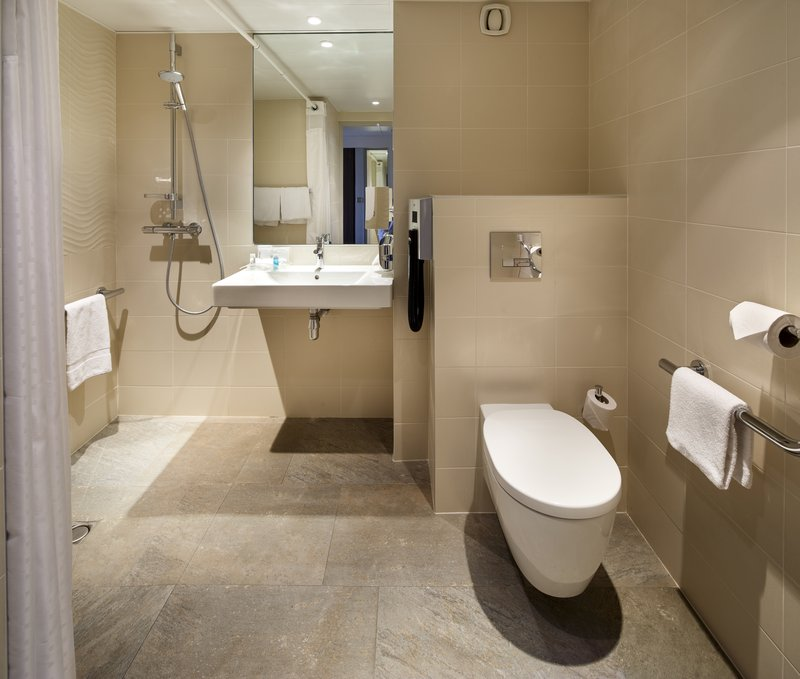 Holiday Inn Lyon Vaise-Contemporary ADA/Wheelchair Accessible Roll In Shower<br/>Image from Leonardo