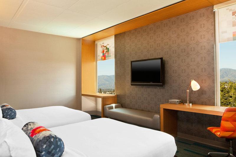 Aloft Ontario - Rancho Cucamonga-Queen/Queen Guest Room<br/>Image from Leonardo