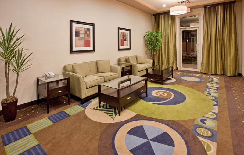 Holiday Inn Hotel & Suites Kamloops-Hotel Lobby Leading to the Rear Exit and Fenced Dog Run Area<br/>Image from Leonardo
