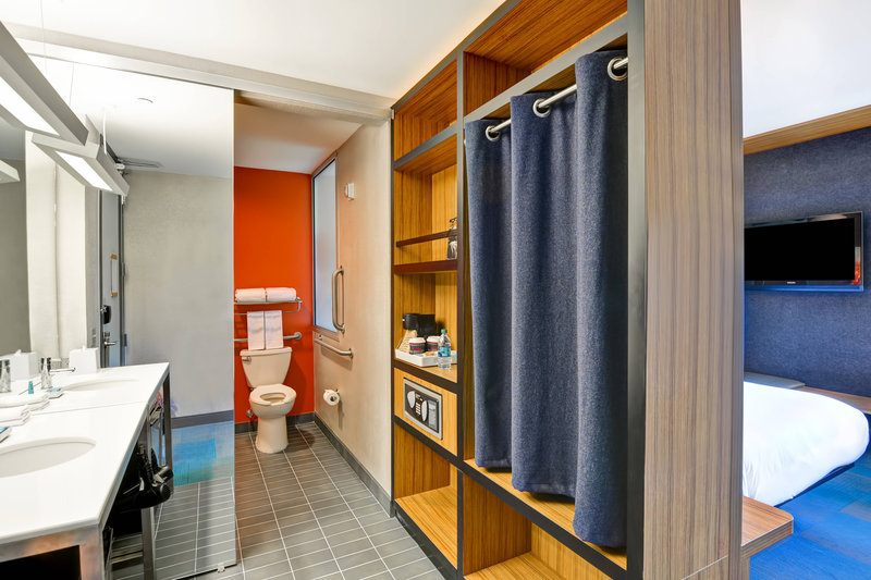 Aloft Phoenix Airport-Accessible Guest Bathroom<br/>Image from Leonardo