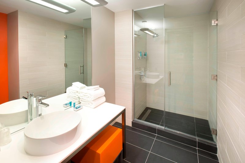 Aloft Tampa Downtown-Guest Bathroom<br/>Image from Leonardo