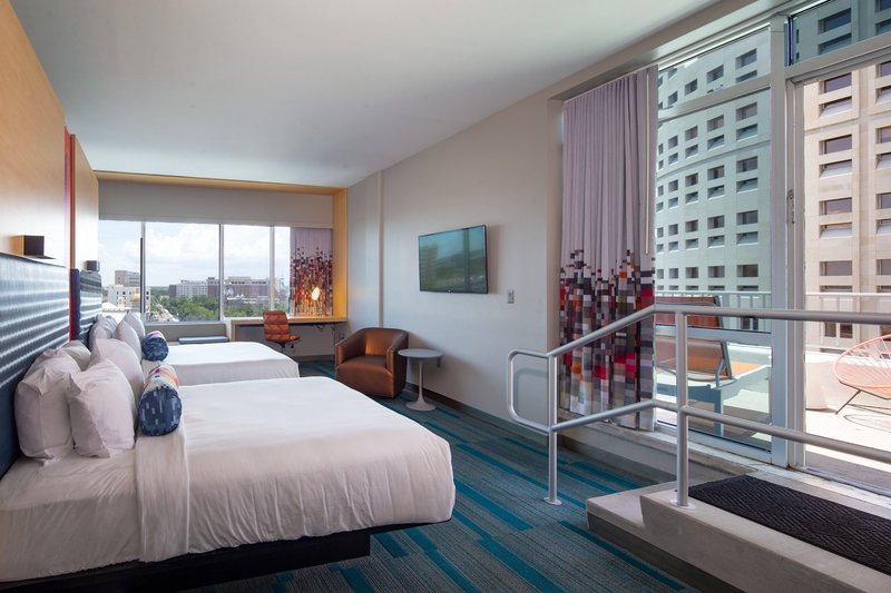 Aloft Tampa Downtown-Ultra Savvy Double Queen Suite with Balcony<br/>Image from Leonardo