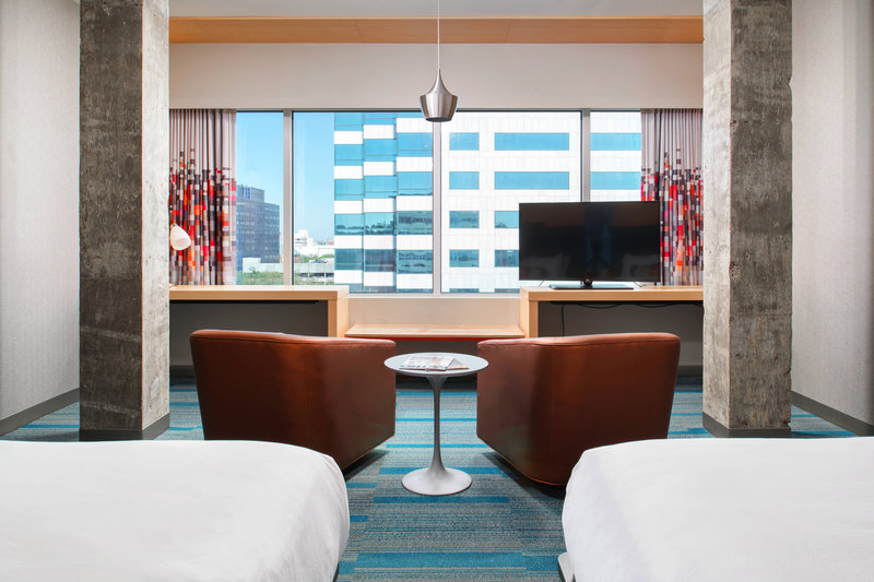 Aloft Tampa Downtown-Savvy Double Queen Suite with Sofa Bed<br/>Image from Leonardo
