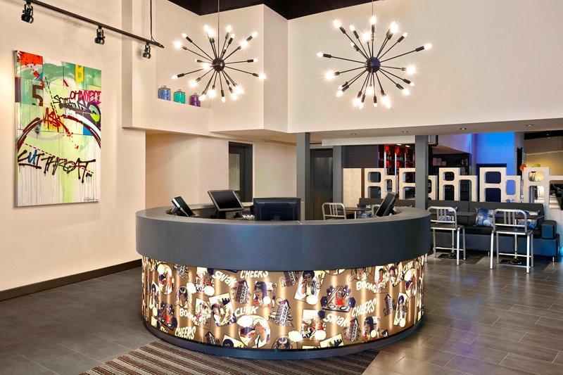 Aloft Calgary University-Lobby<br/>Image from Leonardo