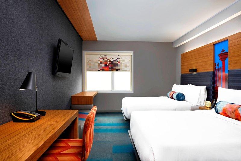 Aloft Calgary University-Queen/Queen Guest Room<br/>Image from Leonardo