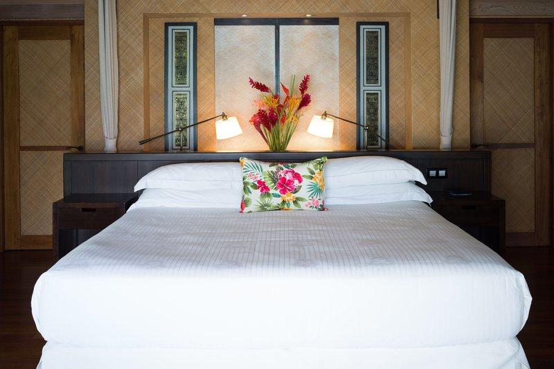 St Regis Resort Bora Bora - Superior King Overwater Villa - Bedroom <br/>Image from Leonardo