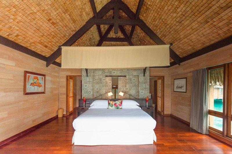St Regis Resort Bora Bora - Premier Otemanu King Overwater Villa With Whirlpool - Bedroom <br/>Image from Leonardo