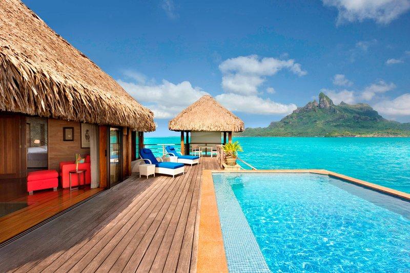 St Regis Resort Bora Bora - Royal Overwater Otemanu Villa with Pool <br/>Image from Leonardo