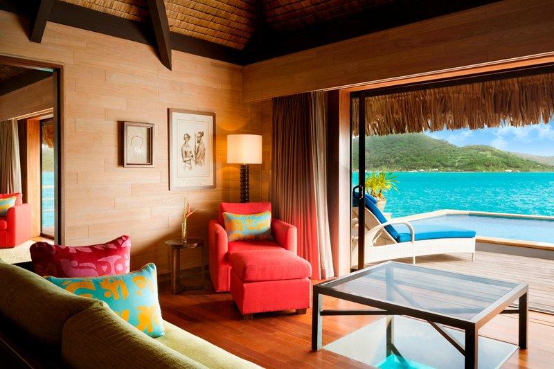St Regis Resort Bora Bora - Royal Overwater Otemanu Villa with Pool - Living Area <br/>Image from Leonardo