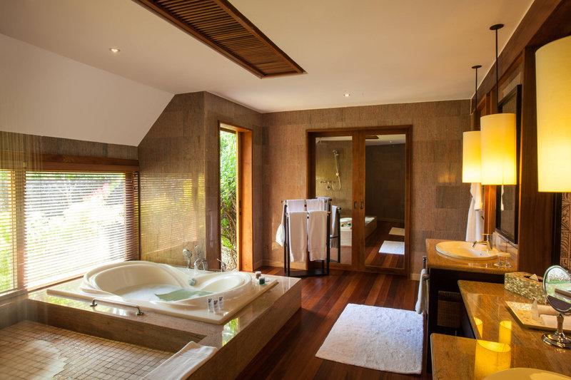 St Regis Resort Bora Bora - Reefside Garden Villa with Pool Bathroom <br/>Image from Leonardo