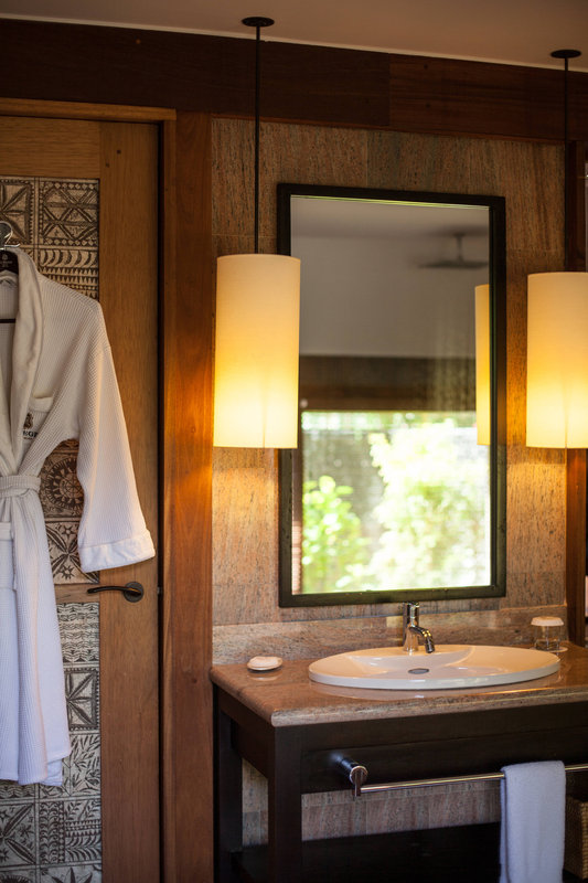 St Regis Resort Bora Bora - Reefside Royal Garden Two-Bedroom Villa with Pool Bathroom <br/>Image from Leonardo