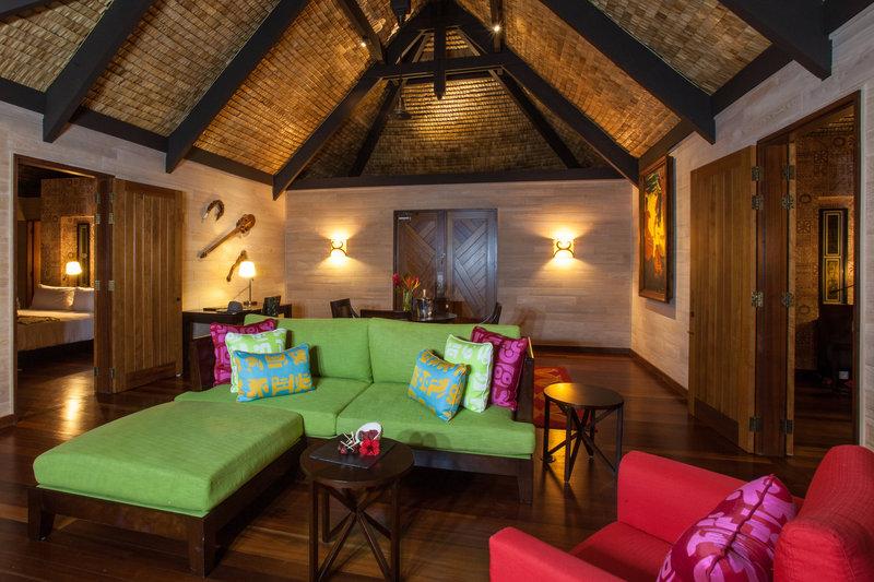 St Regis Resort Bora Bora - Reefside Royal Garden Two-Bedroom Villa with Pool - Living Room <br/>Image from Leonardo
