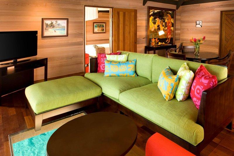 St Regis Resort Bora Bora - Royal Overwater Villa - Living Room <br/>Image from Leonardo