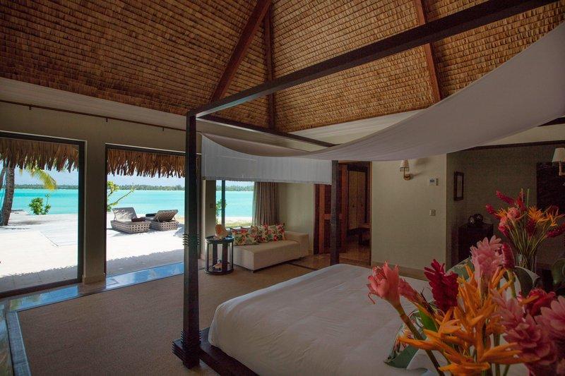 St Regis Resort Bora Bora - The Royal Estate Villa - Master Bedroom <br/>Image from Leonardo