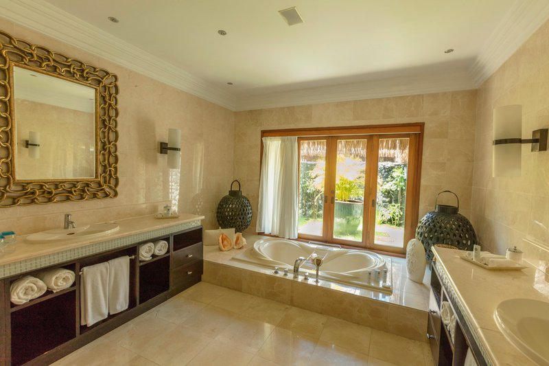 St Regis Resort Bora Bora - The Royal Estate Villa - Master Bathroom <br/>Image from Leonardo