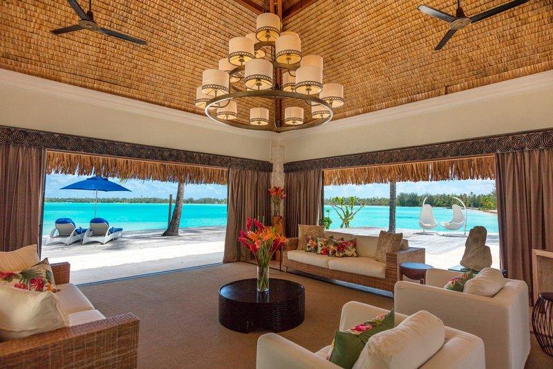 St Regis Resort Bora Bora - The Royal Estate Villa - beach view <br/>Image from Leonardo
