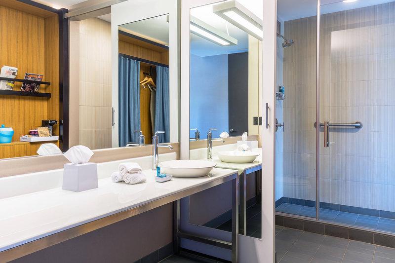 Aloft Lexington-Guest Bathroom<br/>Image from Leonardo