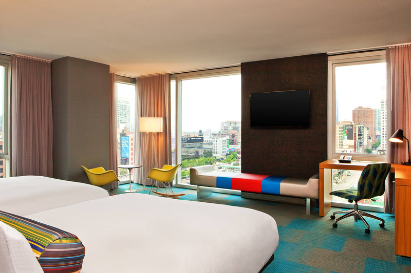 Aloft Chicago City Center-Double/Double Corner Guest Room<br/>Image from Leonardo
