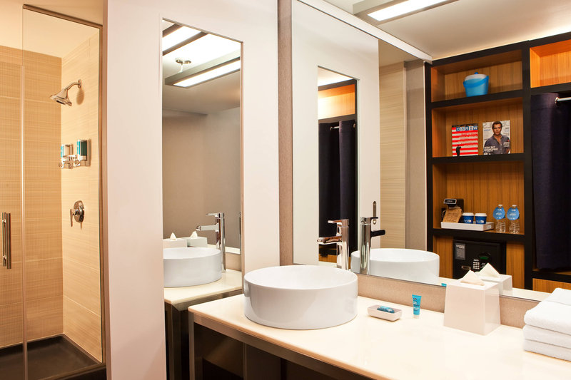 Aloft Chicago City Center-Guest Bathroom<br/>Image from Leonardo