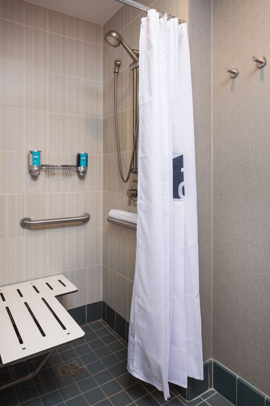 Aloft Minneapolis-Accessible Guest Bathroom<br/>Image from Leonardo