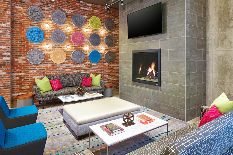 Aloft Louisville Downtown-re:mix Fireplace<br/>Image from Leonardo