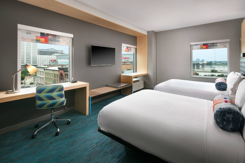 Aloft Louisville Downtown-Queen/Queen Corner Guest Room<br/>Image from Leonardo