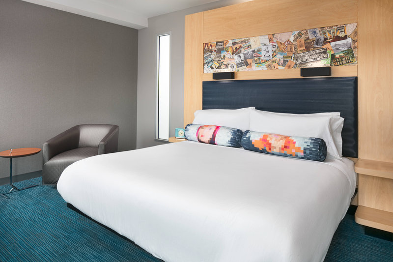 Aloft Louisville Downtown-King Savvy Guest Room<br/>Image from Leonardo