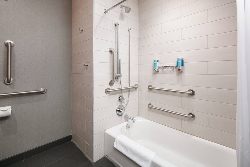 Aloft Louisville Downtown-Queen/Queen Accessible Guest Bathroom<br/>Image from Leonardo