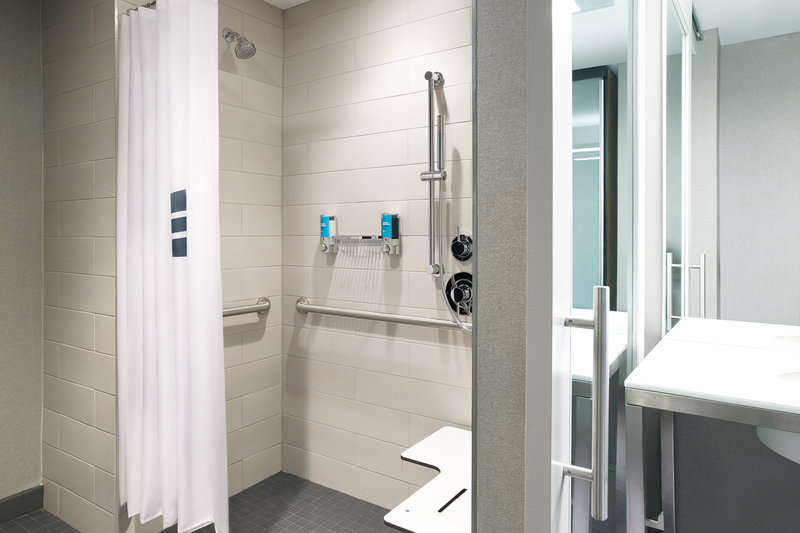 Aloft Louisville Downtown-Accessible Guest Bathroom<br/>Image from Leonardo
