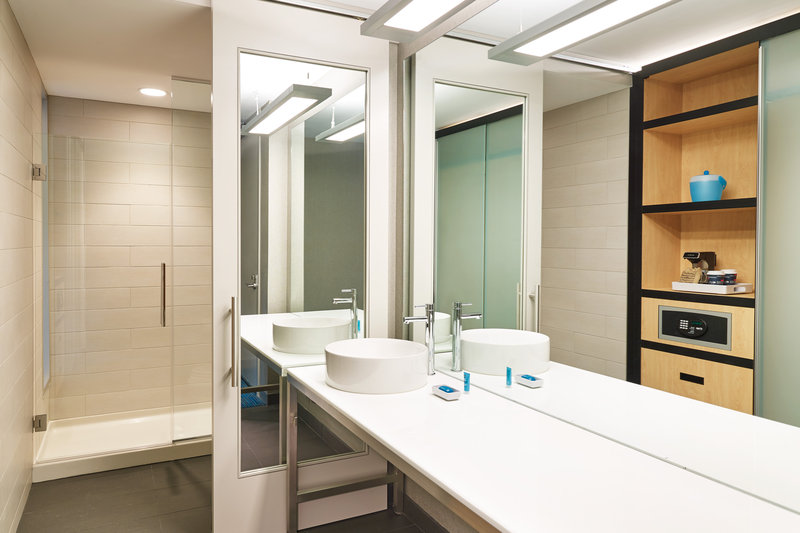 Aloft Louisville Downtown-Guest Bathroom<br/>Image from Leonardo
