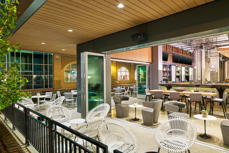 Aloft Louisville Downtown-Corner Bar Patio<br/>Image from Leonardo