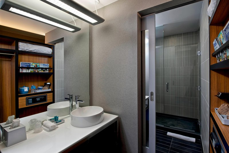 Aloft Tulsa Downtown-Guest Bathroom<br/>Image from Leonardo