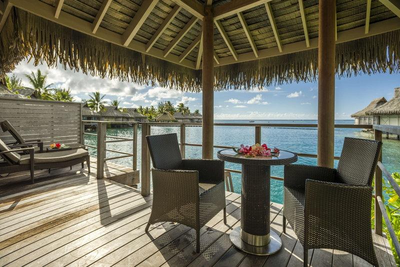 Sofitel Moorea Ia Ora Beach Resort-View from a Junior Suite Overwater Bungalow<br/>Image from Leonardo