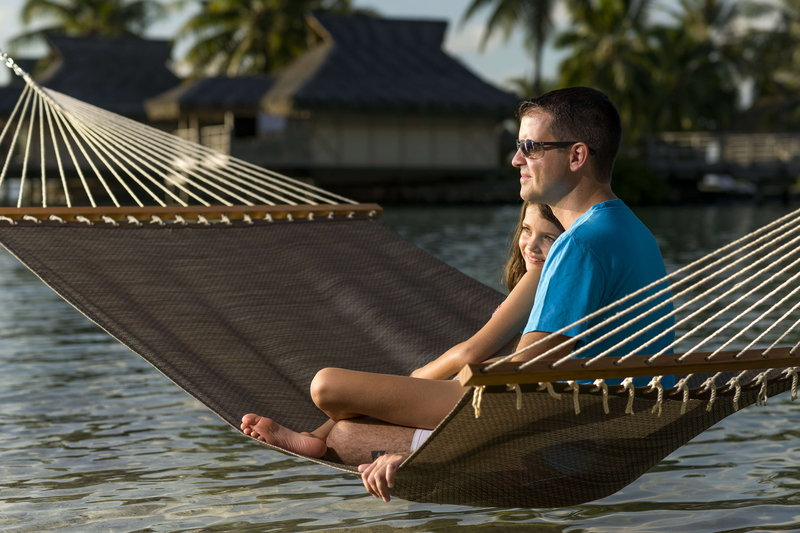 Intercontinental Moorea Resort-Enjoy some relaxing time on the overwater hammock<br/>Image from Leonardo