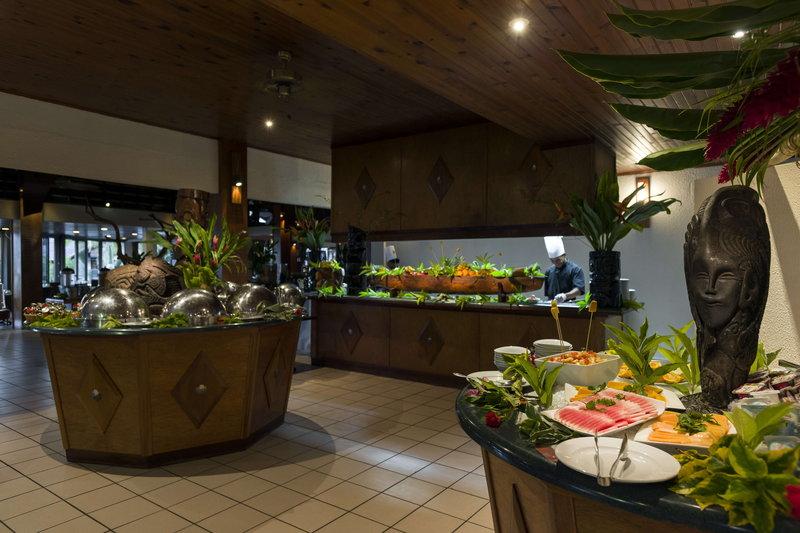Intercontinental Moorea Resort-Breakfast buffet at the Fare Nui Restaurant<br/>Image from Leonardo