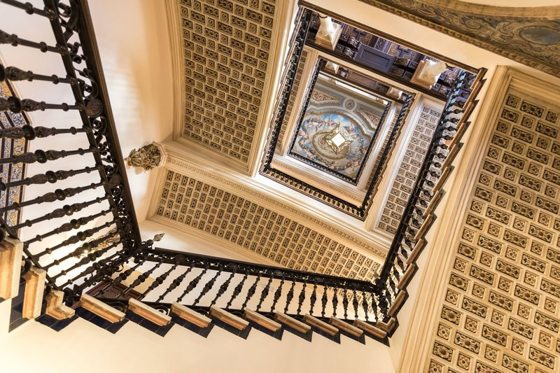 Hotel Alfonso XIII; a Luxury Collection Hotel Seville-Hotel Stairs To Rooms And Suites<br/>Image from Leonardo