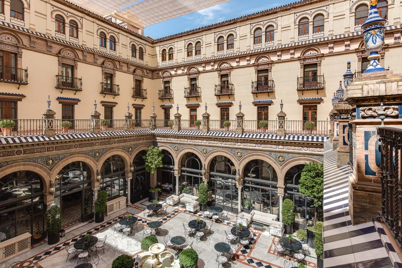 Hotel Alfonso XIII; a Luxury Collection Hotel Seville-San Fernando Restaurant Patio<br/>Image from Leonardo