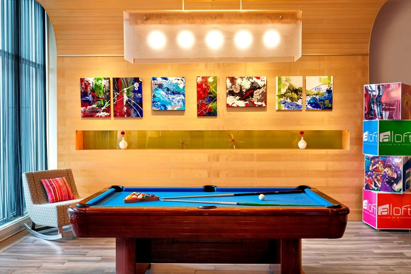 Aloft Montreal Airport-Pool Table & Art Wall<br/>Image from Leonardo