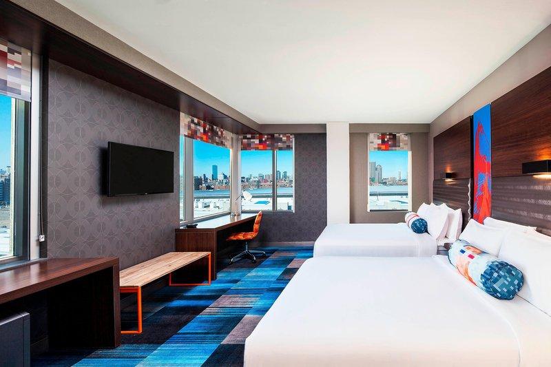 Aloft Boston Seaport-Queen/Queen Urban Guest Room<br/>Image from Leonardo