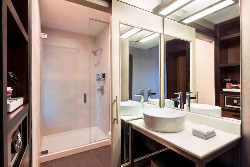 Aloft Boston Seaport-Guest Bathroom<br/>Image from Leonardo