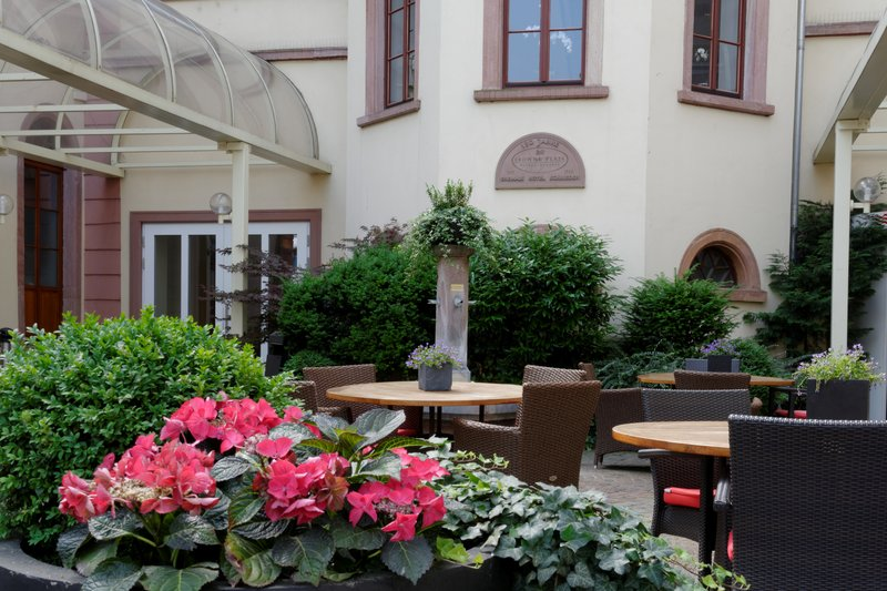 Crowne Plaza Heidelberg City Centre-Enjoy a drink at our terrace in front of the hotel entrance<br/>Image from Leonardo