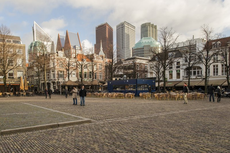Holiday Inn Express The Hague - Parliament-Het Plein in The Hague with many bars and restaurants<br/>Image from Leonardo