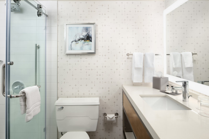 Crowne Plaza Dallas Market Center-Freshen up for the day ahead in our new, sleek bathrooms.<br/>Image from Leonardo